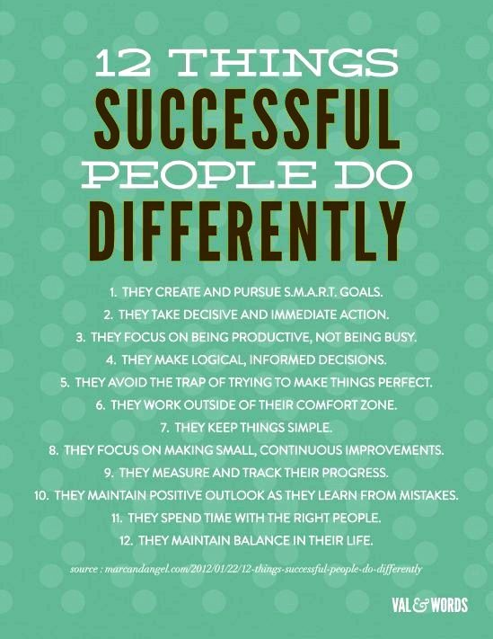 things successful persons do