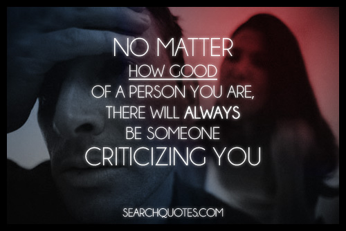 criticizing