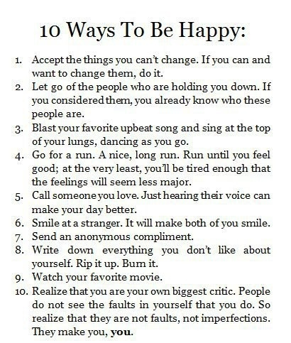 ways to be happy