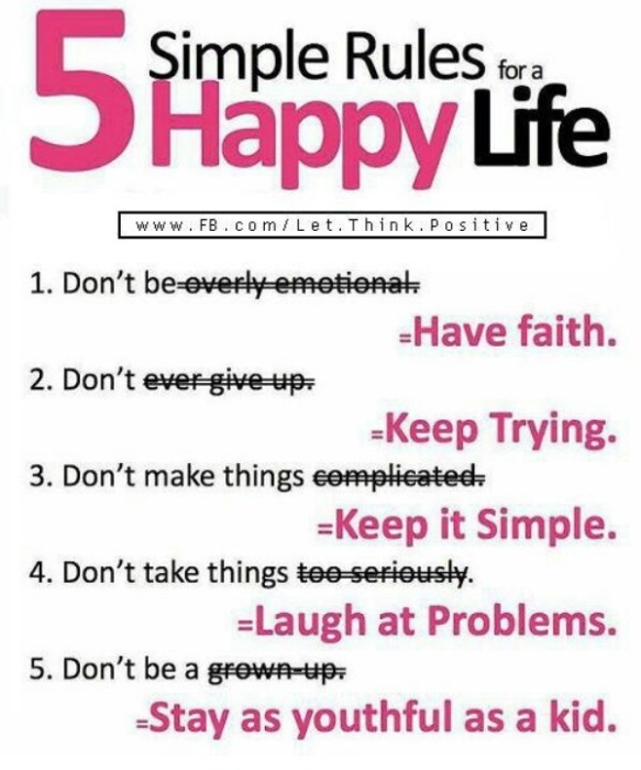 rules of happy life